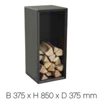 Houtvak L zwart 300 serie