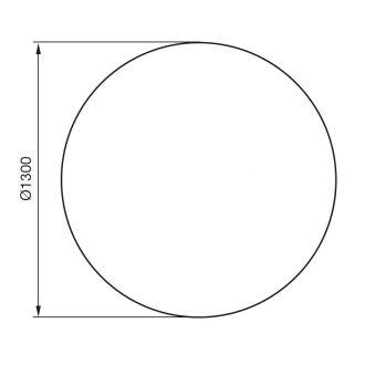 Vloerplaat draaiplateau rotatie 360˚ C 500/600/780/880 zwart/gr