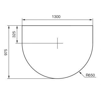 Vloerplaat draaiplateau rotatie 90˚ C 500/C 600 zwart/grijs