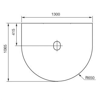 Vloerplaat draaiplateau rotatie 90˚ C 556 /586 /780 /880zw/gr