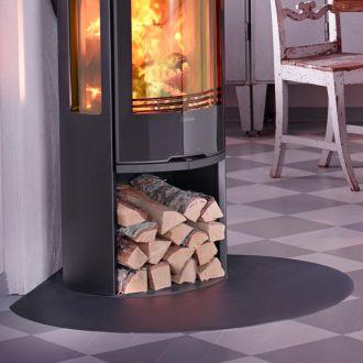 Vloerplaat (hoek) C 400/C 500/C 600 druppelvorm zwart/grijs