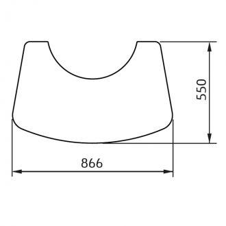 Vloerplaat wegneembaar C 780 glas