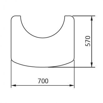 Vloerplaat wegneembaar C 880 zwart/grijs